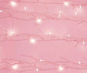 fairy lights and pink image