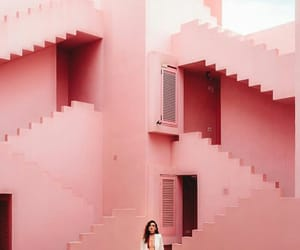 girl, pink, and simple image