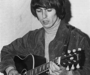 beatles, guitar, and black and white theme image