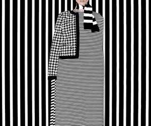 b&w, lines, and stripes image