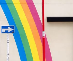 photography, rainbow, and stripes image