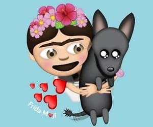 Frida, perrito, and emoji image