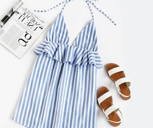 casual, outfit, and stripes image