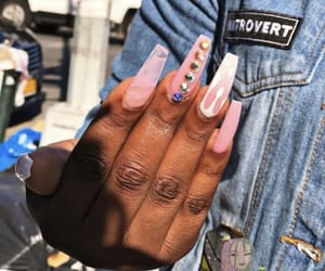 coffin, nail art, and pink image