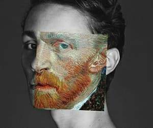 art, faces, and van gogh image