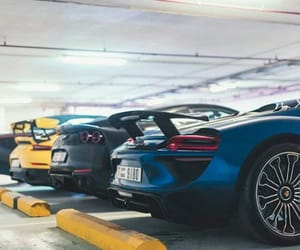 cars, porsche, and rear image