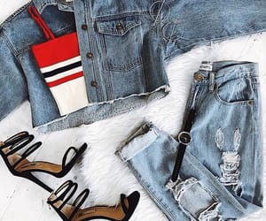 clothes, denim, and jacket image