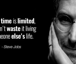 apple, Steve Jobs, and motto image