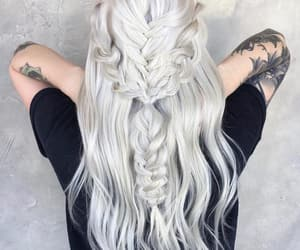 beautiful, color, and silver hair image