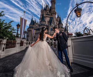 dress, wedding, and disney image