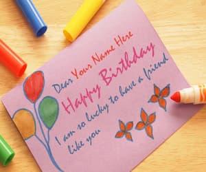 birthday, birthday card, and happy birthday wishes image