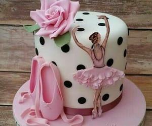 ballerina, birthday, and birthday cake image