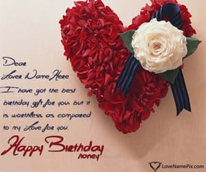 birthday card, happy birthday wishes, and birthday wishes for lover image