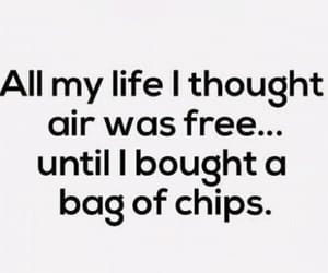 funny, chips, and quotes image