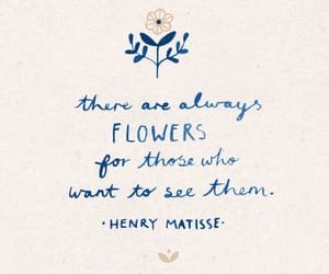 quotes, words, and flowers image