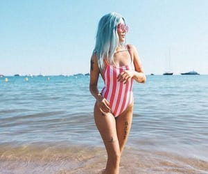 halsey, beach, and summer image