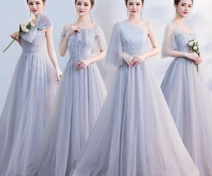 long dress, wedding, and elegant dress image