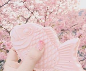 pink, japan, and fish image