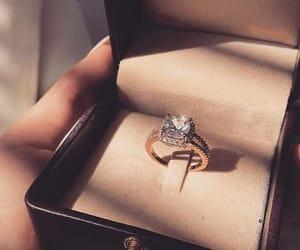 diamond, ring, and engagment image