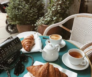 croissant, coffee, and food image