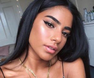 girl, makeup, and love image