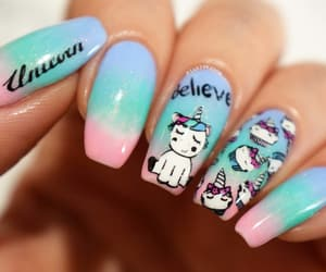 barry m, nails, and unicorn nails image