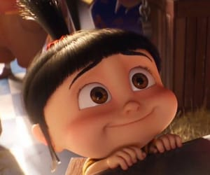 agnes, girl, and minions image