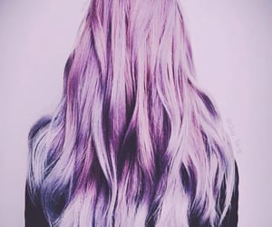 hair, purple hair, and lilac hair image
