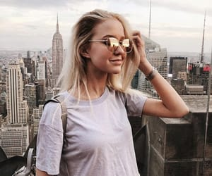 beauty, city, and model image