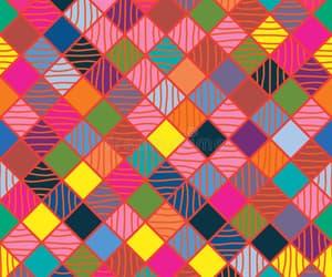 Stripes & Squares Wallpaper