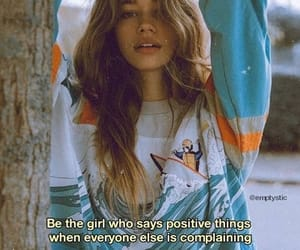 girls, positive, and positivity image