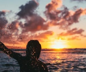 ocean, summer, and sun image
