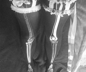 garter, skeleton, and goth image