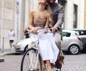 bicycle, couple, and Powerful image