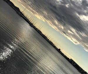 sonnenuntergang, ☁, and wolken image