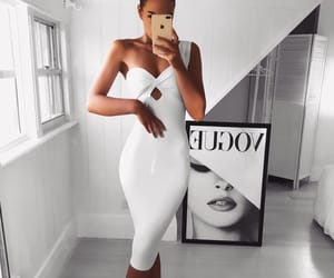 white dress, ootd, and fashion+style+outfits image
