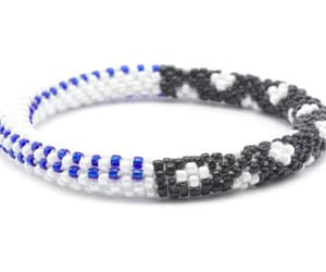 support bracelet, thin blue line bracelet, and police bracelet image