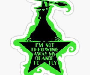 defying gravity, musical, and wicked image