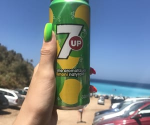 7up, nails, and beach image