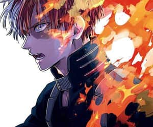 anime, boku no hero academia, and todoroki image