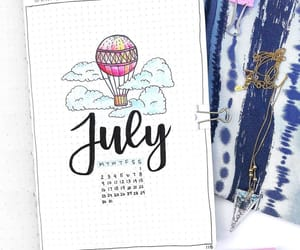 july, art, and drawing image