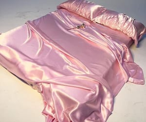 bed, satin, and silk image