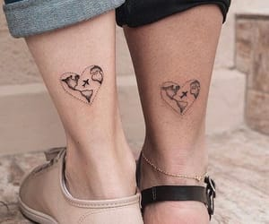 tattoo, travel, and heart image