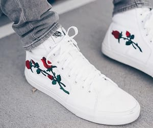 vans, white, and rose image