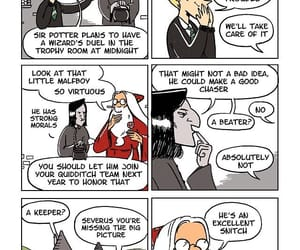 comic, draco malfoy, and dumbledore image