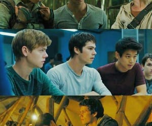 the maze runner, thomas brodie-sangster, and dylan obrien image