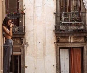 babe, balcony, and love image