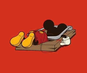 dead, mickey, and mickey mouse image
