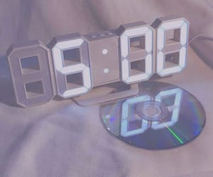 blue, clock, and soft image