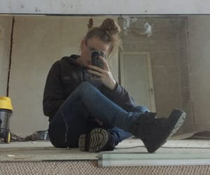 boots, girl, and glasses image